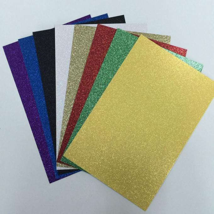 Double Side Coated Glitter Card Paper Paperboard With Glitter For Handcraft Works