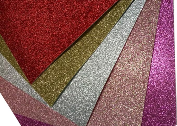 Flash Powder Cardboard Glitter Card Paper 650mm Width For Wedding Invitation