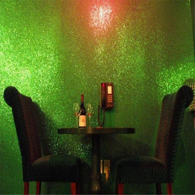 Light Green Glitter Wallpaper For Bedroom , Craft 3d Glitter Wallpaper