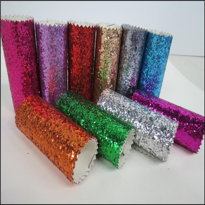 Custom Design Grade 3 PU Glitter Fabric 0.7mm For Making Hair Accessories