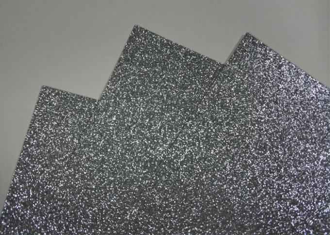 "Silver Water Activated Self Adhesive Glitter Paper 12 "" * 12 "" With Jumbo Rolls"