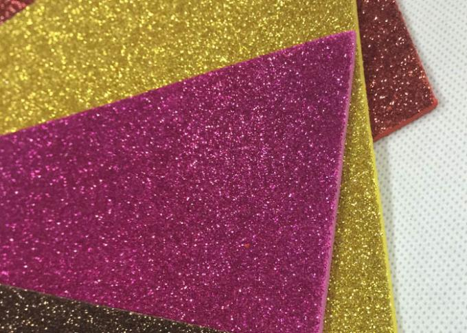 1mm Thickness Adhesive Glitter Foam Sheets , Anti - Slip Sticky Back Glitter Foam Sheets