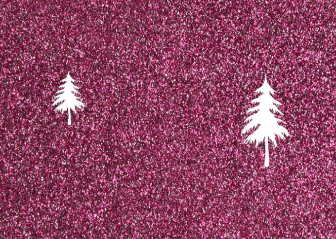 1.38m PVC Shinning Pink Glitter Pvc Fabric Leather With Cloth Bottom