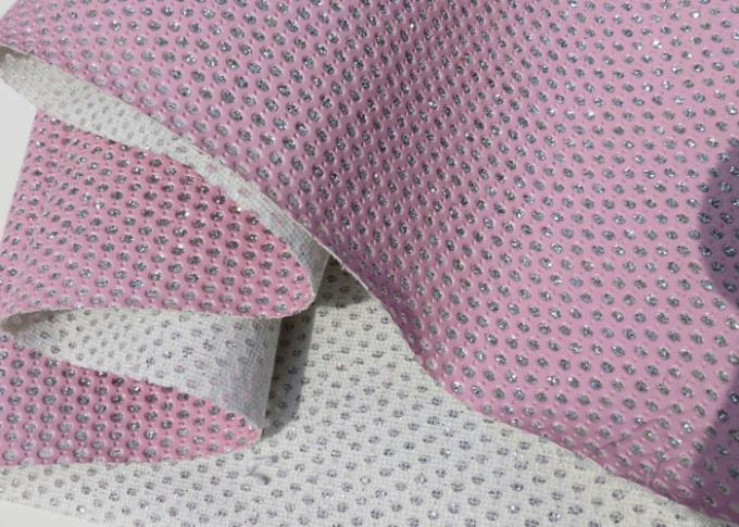 Chunky Metallic Sequined Perforated Leather Fabric Wallpaper Home Decoration Curtain
