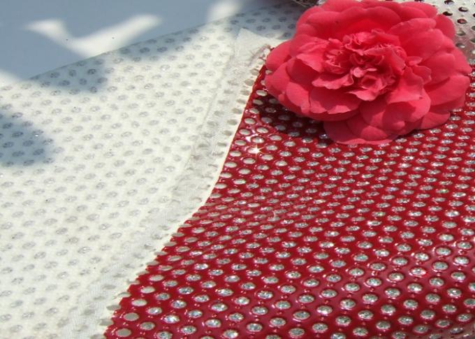 Good Handfeeling Perforated Leather Material Fabric Customized Color