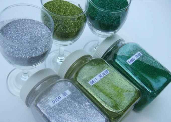 Colorful Shinty Hexagon Glitter Powder Non - Toxic Top Grade For Dye Fabric