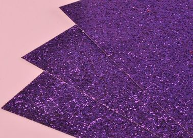 China Environmental Friendly Glitter Cardstock Paper Chunky Glitter Leather For Wall supplier