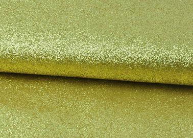 China Sparkly Fine Pu Glitter Fabric Eco Friendly PU Synthetic Material Plain Color supplier
