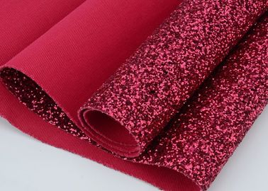 Synthetic PU Leather Material Glitter Upholstery Fabric Match Backing Color