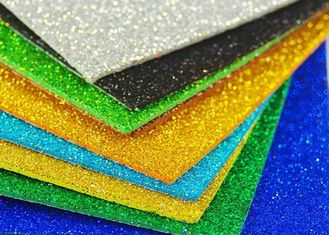China Colorful Craft Glitter EVA Foam Sheet Thin EVA Paper For Kids DIY Cutting supplier