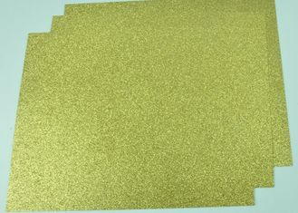 China Customized Glitter Cardstock Paper , Festival Use Double Sided Gold Glitter Card supplier