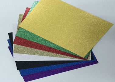 China Double Side Coated Glitter Card Paper Paperboard With Glitter For Handcraft Works supplier