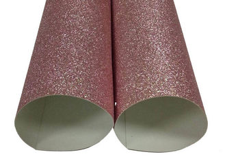 Decorating Rose Gold Glitter Paper , Shinning Craft Glitter Paper Sheets