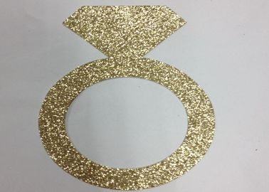"China 300gsm Glitter Glitter Paper Letters 5"" Tall Gold Glitter Paper Ring supplier"