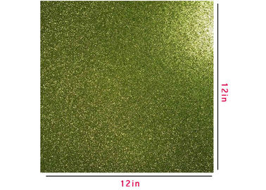 China 300g Green Glitter Paper , Scrapbooking Double Sided Glitter Cardstock supplier