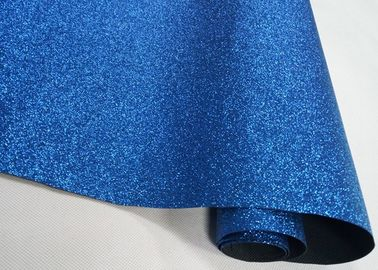 China Nonwoven Fine Blue Sparkle Glitter Fabric , Real Shiny Glitter Fabric For Table Runner supplier
