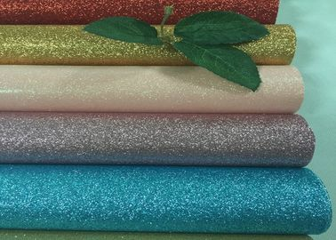 China Personalized Pu Glitter Material Fabric 50meters One Roll For Bags Decor supplier