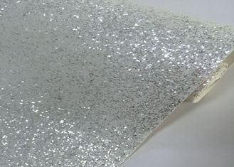China Chunky White Silver Glitter Effect Wallpaper Living Room 3d Wallpaper Non Woven supplier