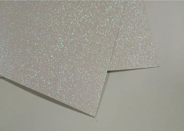 Waterproof Wrapping Double Sided Glitter Paper Rainbow White Color For Children Handmade