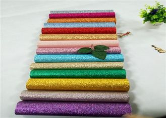 China 3D Chunky Glitter Leather PU Glitter Fabric For Upper Shoes In Roll supplier