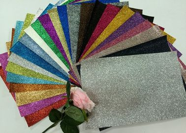 "China 1/128"" Glitter Mixed Colors PU Glitter Fabric PU Cloth Backing For Christmas Box supplier"