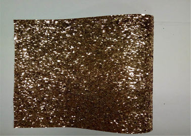 China Home Decoration Gold Glitter Fabric , Thick Glitter Fabric For Dresses supplier