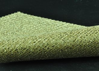 Sheer Polyester Tulle Glitter Mesh Fabric Multicolor Popular For Shoes