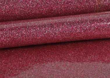 China 1.38m PVC Shinning Pink Glitter Pvc Fabric Leather With Cloth Bottom supplier