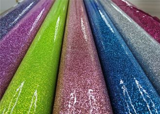 China Colorful Party Decoration Glitter Pvc Fabric 0.35mm Thickness For Sewing Bags supplier