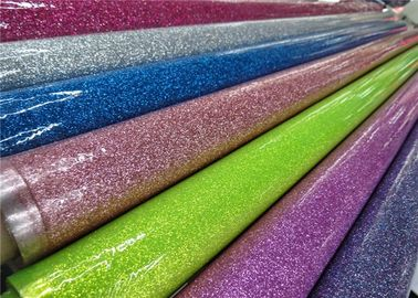 Colorful Party Decoration Glitter Pvc Fabric 0.35mm Thickness For Sewing Bags