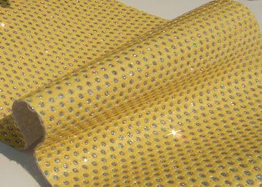 China Good Handfeeling Perforated Leather Material Fabric Customized Color supplier