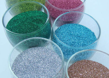 China Colorful Shinty Hexagon Glitter Powder Non - Toxic Top Grade For Dye Fabric supplier