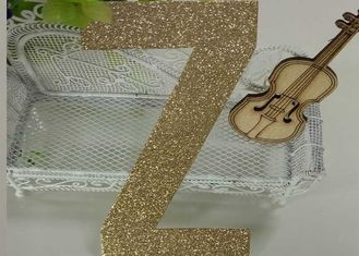 China Letters Z Die Cut Large Glitter Foam Letters 300gsm Glitter Paper For Card Making supplier