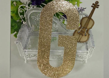 China Die Cut Gold Decorative Glitter Paper Letters For Banner And Cake Topper supplier
