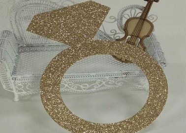 China Glitter Paperboard Ring Glitter Paper Letters Gold Color For Birthday Cake Decor supplier