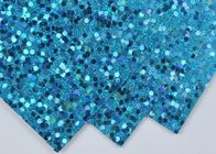 China Light Blue Sparkle Glitter Paper , Wall Decor Color Custom Glitter Paper factory