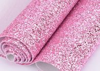 Good Quality Glitter Material & Synthetic PU Leather Material Glitter Upholstery Fabric Match Backing Color on sale