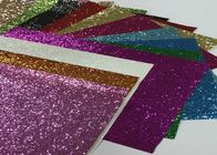 China Eco Friendly Craft A4 Size Pu Glitter Fabric Sheet Metallic Glitter Fabric factory