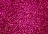 China Fuchsia Waterproof Thick Glitter Wallpaper , Kraft Paper Chunky Glitter Wallpaper factory