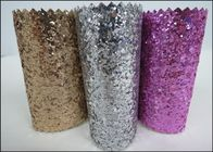 China Custom Design Grade 3 PU Glitter Fabric 0.7mm For Making Hair Accessories factory