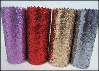 Sparkle Mixed Glitter Fabric Sheets , Pu Leather Multi Color Glitter Fabric