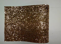 China Home Decoration Gold Glitter Fabric , Thick Glitter Fabric For Dresses factory