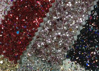 China Lurex Metallic Waterproof Glitter Cotton Fabric 1.38m Width For Fashion Garment factory