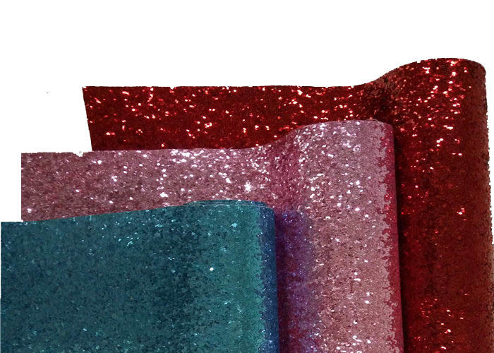 Chunky Leather Wallpaper Glitter Material Fabric PU Backing For Card Making