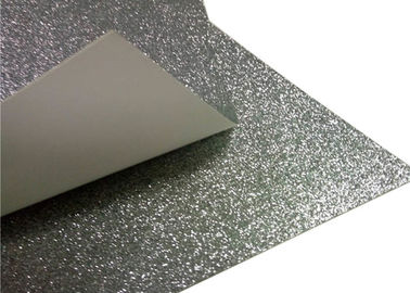 China Children ' S Toy Paperboard Silver Glitter Paper / Sparkle Craft Paper For Invitation Card factory