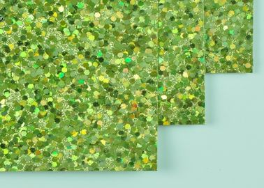 China 12*12 Inch Size Light Green Glitter Paper DIY Glitter Paper With Woven Backing distributor