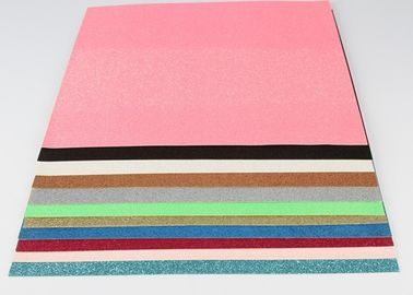 China Decorative Coloful Sparkle Glitter Paper , Strong Adhesive Self Stick Glitter Paper factory