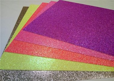 China Heat - Resistant Sticky Back Glitter Paper , Handmade Adhesive Glitter Paper factory