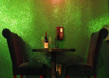 China Light Green Glitter Wallpaper For Bedroom , Craft 3d Glitter Wallpaper distributor