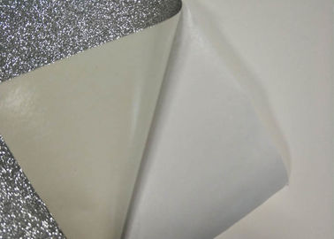 "China Silver Water Activated Self Adhesive Glitter Paper 12 "" * 12 "" With Jumbo Rolls factory"